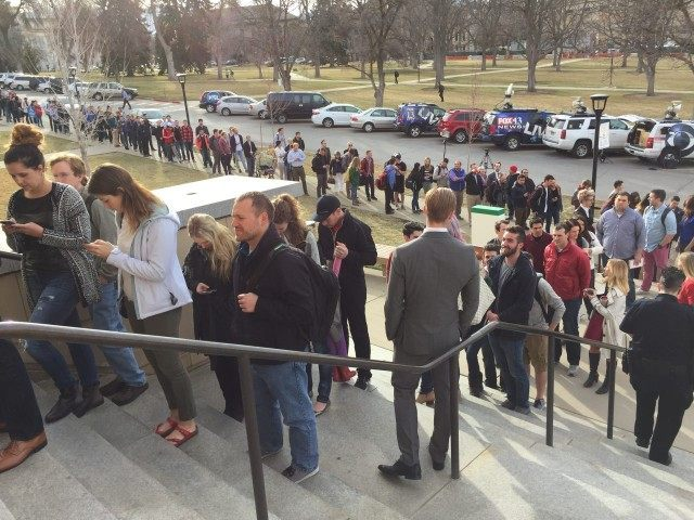 Crowd outside Romney speech in Utah (Joel Pollak / Breitbart News)