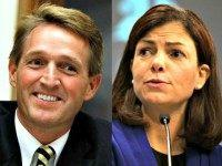 Jeff Flake and Kelly Ayotte AP