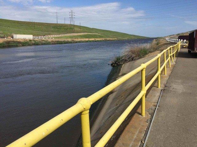 Jones Pumping Plant intake (Joel Pollak / Breitbart News)