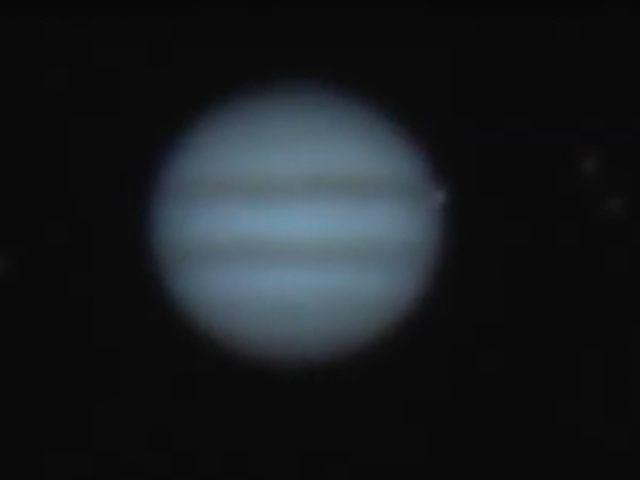 Jupiter impact (Screenshot / YouTube / Gerrit Kernbauer)