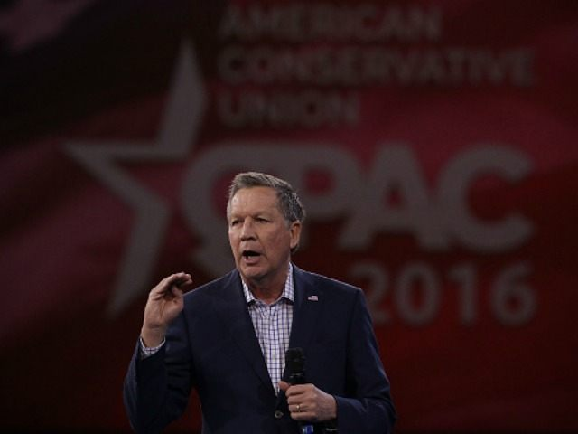 Republican presidential candidate Gov. John Kasich of Ohio speaks during CPAC 2016 March 4, 2016 in National Harbor, Maryland.