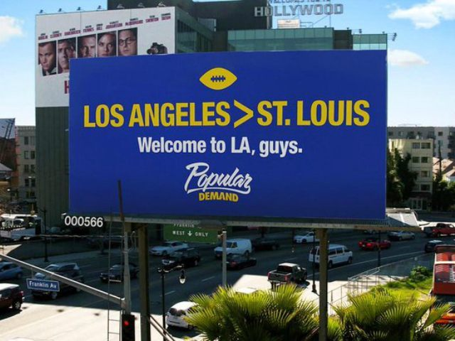 Los Angeles Rams Billboard