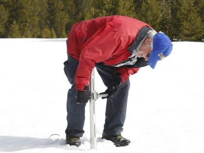 Measuring Sierra snowpack (Rich Pedroncelli / Associated Press)