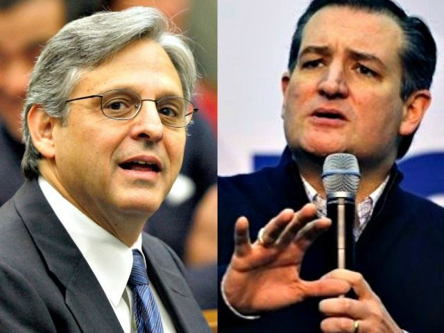 Merrick Garland and Ted Cruz