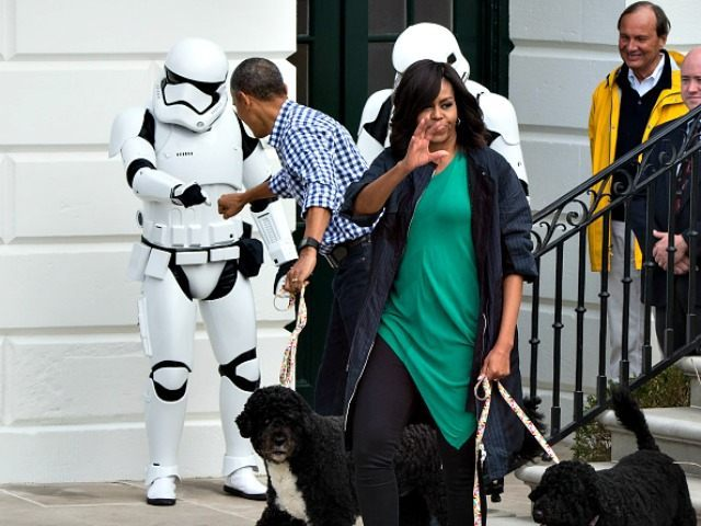 Obama Fist Bumps Stormtrooper Nicholas Kamm Getty