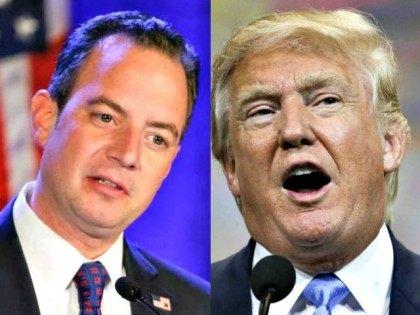 Reince Priebus and Donald Trump AP