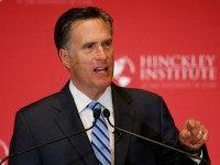 Mitt Romney gives a speech on the state of the Republican party at the Hinckley Institute of Politics on the campus of the University of Utah on March 3, 2016 in Salt Lake City, Utah