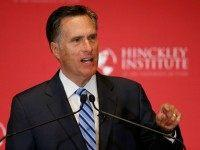 Former Massachusetts Gov. Mitt Romney gives a speech on the state of the Republican party at the Hinckley Institute of Politics on the campus of the University of Utah on March 3, 2016 in Salt Lake City, Utah.