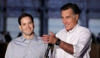 Rubio and Romney Campaign AP