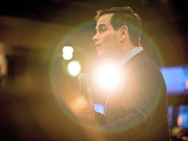 Republican presidential candidate Sen. Marco Rubio, R-Fla., speaks at Wellman's Pub & Rooftop in West Des Moines, Iowa, Wednesday, Jan. 27, 2016. (AP Photo/Andrew Harnik)