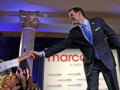 Rubio with Supporters Miami AP