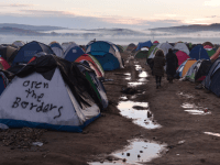 Greece Macedonia Open The Border Migrant Tents
