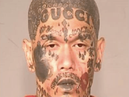 Gucci face tattoo (Fresno PD)
