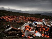 Greece Migrant Boats Lifejackets