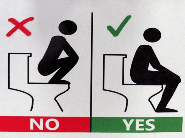 No Squatting Or Using Toilet Floor Top University Tells - International bathroom signs