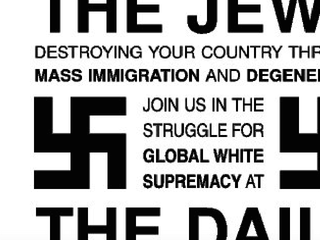 Antisemitic flyer (Screen shot / Twitter)