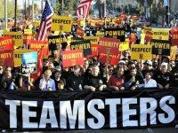 Teamsters Rally AP KEVORK DJANSEZIAN