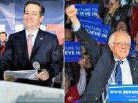 Ted Cruz Bernie Sanders AP