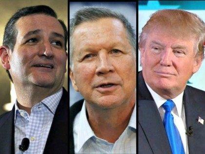 Ted Cruz, John Kasich, Donald Trump AP Photos