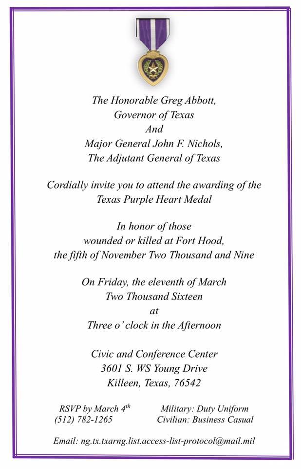 Texas Purple Heart Ceremony