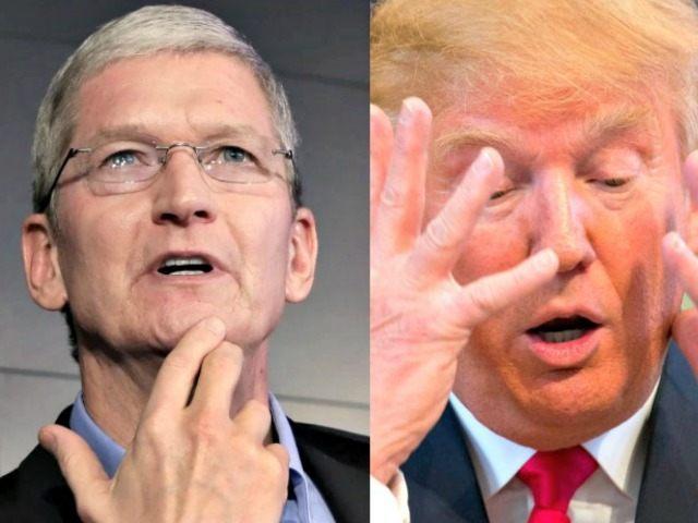 Tim Cook and Donald Trump AP Photos