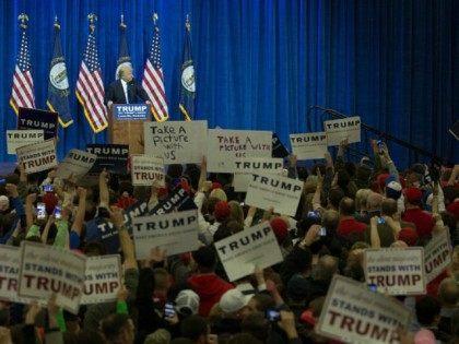 Donald Trump March 1, 2016 in Louisville, Kentucky.