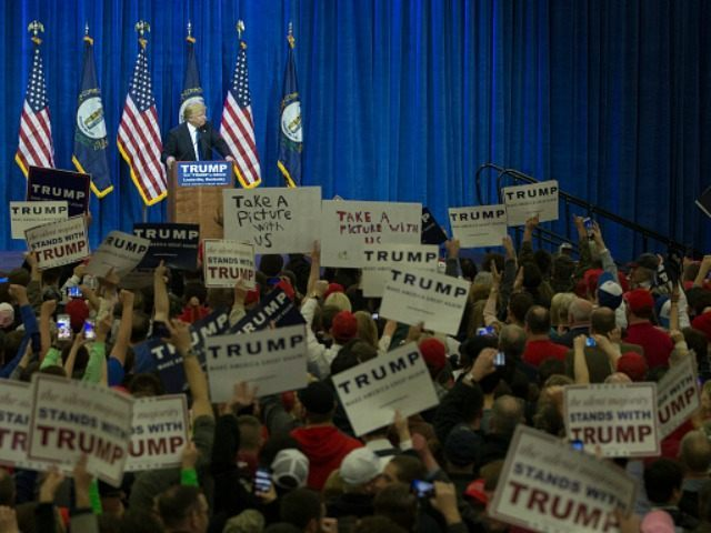 Donald Trump March 1, 2016 in Louisville, Kentucky.