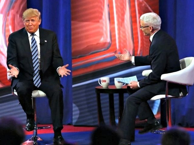 Trump and Anderson Cooper Spencer Platt Getty