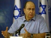 Israeli Defense Minister Moshe Ya'alon speaks during a press conference with Prime Minister Benjamin Netanyahu (unseen) at the defense ministry in the coastal city of Tel Aviv on August 2, 2014.
