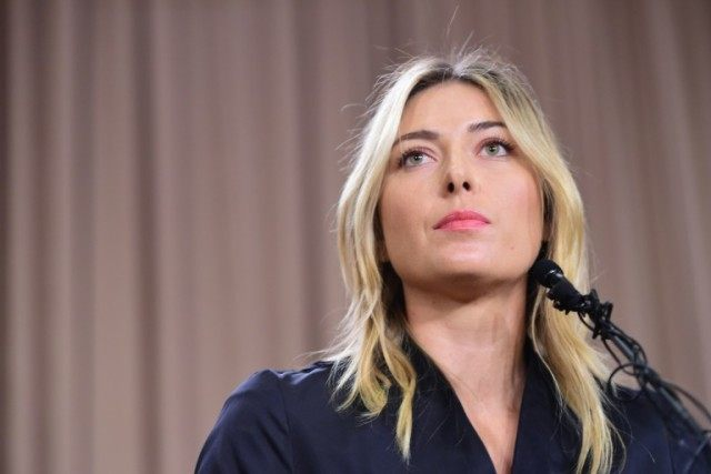 Russian tennis player Maria Sharapova tells a press conference on March 7, 2016 she tested positive for Meldonium