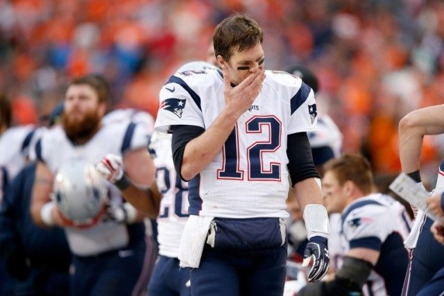 Tom Brady #12 of the New England Patriots, seen on January 24, 2016 in Denver, Colorado, was not present at the hearing before the 2nd US Circuit Court of Appeals