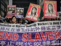"Tens of thousands of foreign maids in Hong Kong are in ""forced labour"", according to a new report"