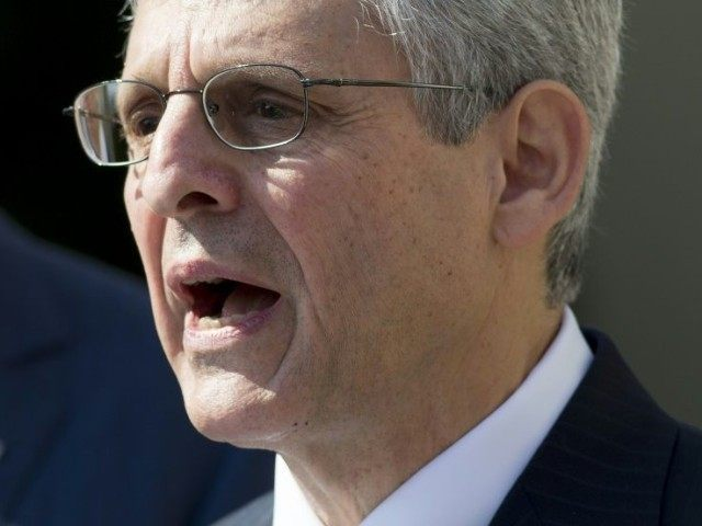 US Supreme Court nominee Judge Merrick Garland speaks after being nominated by US President Barack Obama in the Rose Garden of the White House in Washington, DC, March 16, 2016
