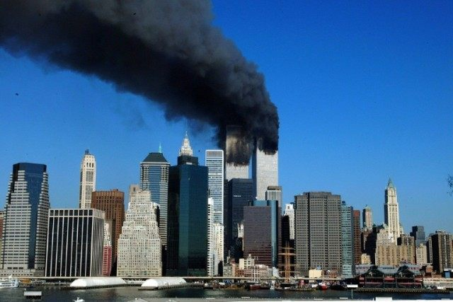 The World Trade Center's Twin Towers in New York collapsed after two planes crashed into them on September 11, 2001