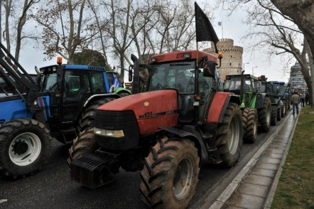 Greek farmers rolled out their tractors in central Thessaloniki last month to protest against pension reforms