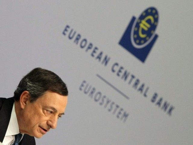 Mario Draghi, President of the European Central Bank (ECB), addresses the media following the meeting of the Governing Council in Frankfurt am Main, western Germany, on March 10, 2016