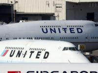 United Airlines planes sit on the tarmac at San Francisco International Airport on January 23, 2014 in San Francisco, California