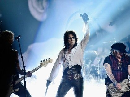 Alice Cooper on stage during The 58th GRAMMY Awards at Staples Center on February 15, 2016 in Los Angeles, California.