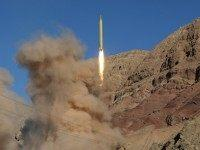A long-range Qadr ballistic missile is launched in the Alborz mountain range in northern Iran on March 9, 2016. Iran said its armed forces had fired two more ballistic missiles as it continued tests in defiance of US warnings