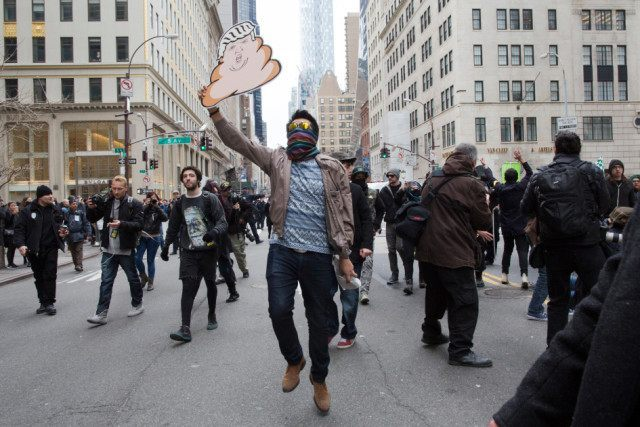 anti-Trump rally NYC AP