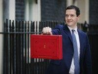 British Chancellor of the Exchequer, George Osborne carries the Budget Box outside 11 Downing Street on March 16, 2016 in London, England. Today's budget will set the expenditure of the public sector for the year beginning on April 1st 2016 against the revenues gathered by HM Treasury.
