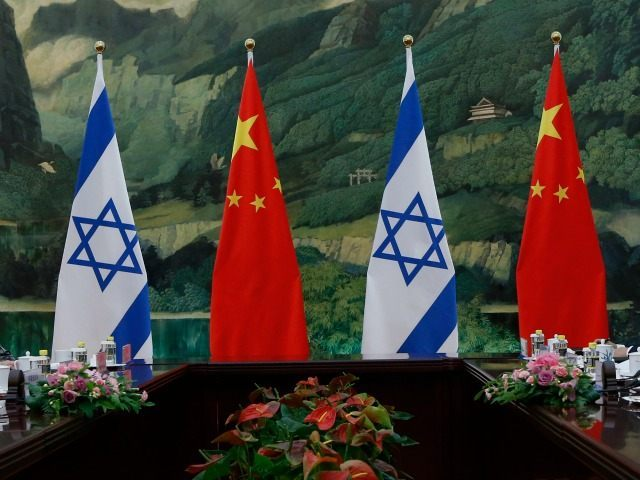israel and china flags