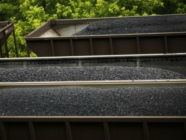 CSX Transportation coal trains sit in a rail yard on June 3, 2014 in Printer, Kentucky. New regulations on carbon emissions proposed by the Obama administration have reportedly angered politicians on both sides of the aisle in energy-producing states such as Kentucky.