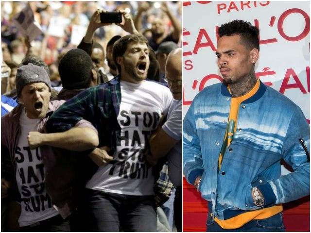 'F–k Trump and F–k the Pigs': Chris Brown Urges Donald Trump Protesters to Travel in Groups