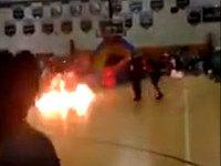 Gruesome Video Shows Fire-Breather Accidentally Catch Fire at FL School