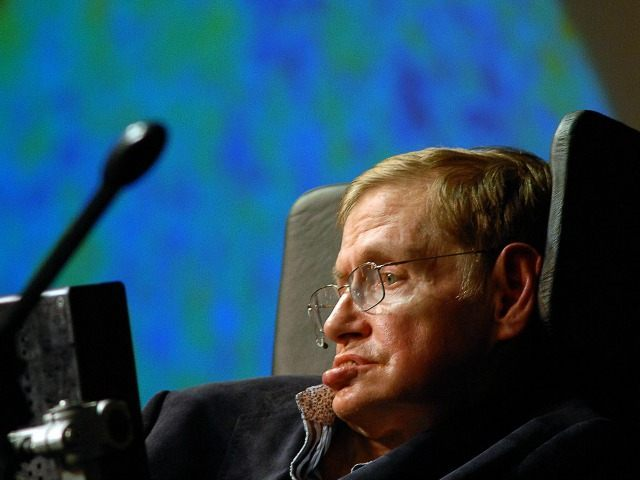 World reknown british astrophysicist Stephen Hawking delivers a lecture on the origin of the universe to coincide with the announcement of the 'Next Einstein' initiative, on May 11, 2008, on the outskirts of Cape Town.