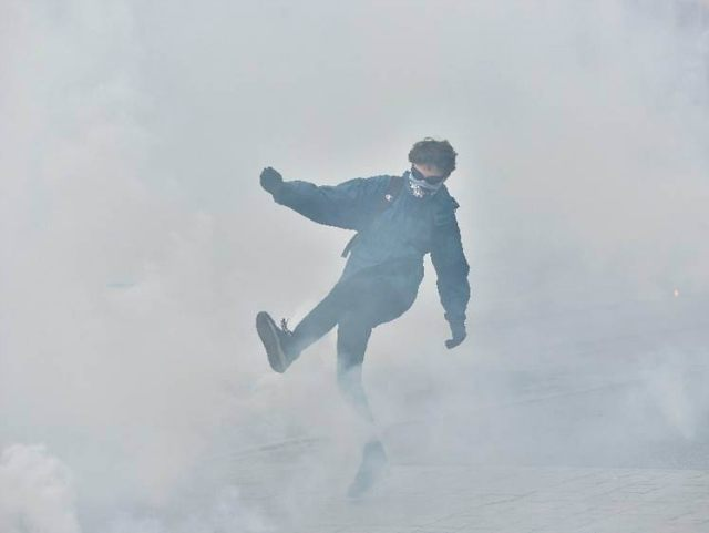 french protesters