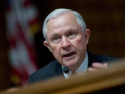Senator Jeff Sessions, a Republican from Alabama, makes an opening statement during a Senate Judiciary Subcommittee hearing in Washington, D.C., on Thursday, June 4, 2015. Senator Ted Cruz denounced three Treasury officials for not attending the hearing on how the department wrote a rule allowing subsidies to be issued through …