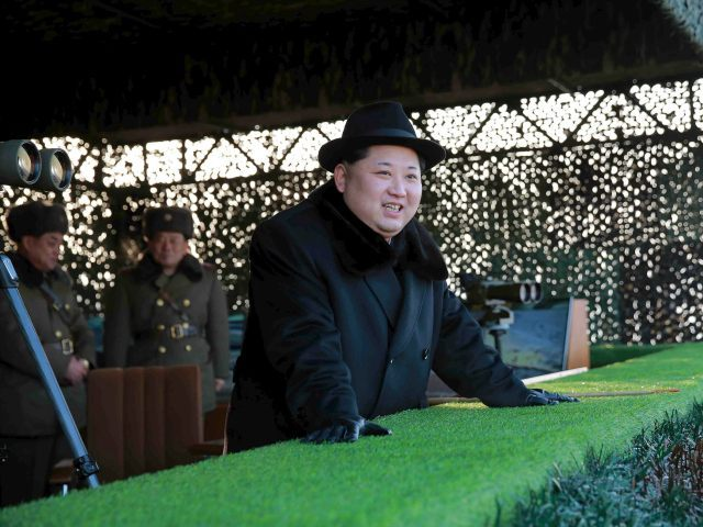 "DEMOCRATIC PEOPLE'S REPUBLIC OF KOREA, - : This undated photo released by North Korea's official Korean Central News Agency (KCNA) on February 21, 2016 shows North Korean leader Kim Jong-Un inspecting maneuvers for attack and defence between large combined units of the Korean People's Army (KPA) staged in three directions at the same time at an undisclosed location. REPUBLIC OF KOREA OUT AFP PHOTO / KCNA via KNS THIS PICTURE WAS MADE AVAILABLE BY A THIRD PARTY. AFP CAN NOT INDEPENDENTLY VERIFY THE AUTHENTICITY, LOCATION, DATE AND CONTENT OF THIS IMAGE. THIS PHOTO IS DISTRIBUTED EXACTLY AS RECEIVED BY AFP. ---EDITORS NOTE--- RESTRICTED TO EDITORIAL USE - MANDATORY CREDIT ""AFP PHOTO/KCNA VIA KNS"" - NO MARKETING NO ADVERTISING CAMPAIGNS - DISTRIBUTED AS A SERVICE TO CLIENTS"