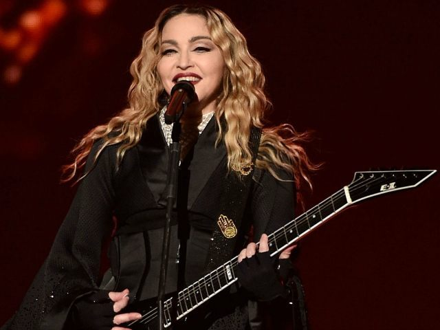 NASHVILLE, TN - JANUARY 18: Singer Madonna performs during her 'Rebel Heart' tour at Bridgestone Arena on January 18, 2016 in Nashville, Tennessee. (Photo by John Shearer/Getty Images)